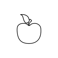 an Apple sketch icon. Element of education icon for mobile concept and web apps. Outline an Apple sketch icon can be used for web and mobile