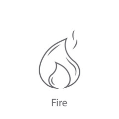 Fire icon. Simple element illustration. Fire symbol design from Insurance collection set. Can be used for web and mobile