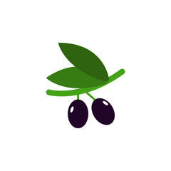 black olives colored illustration. Element of colored food icon for mobile concept and web apps. Detailed black olives icon can be used for web and mobile