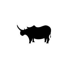 silhouette of a rhinoceros icon. Element of animals icon for mobile concept and web apps. Detailed silhouette of a rhinoceros icon can be used for web and mobile