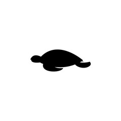 silhouette of a turtle icon. Element of animals icon for mobile concept and web apps. Detailed silhouette of a turtle icon can be used for web and mobile