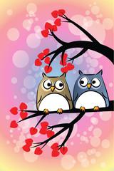 owls love vector