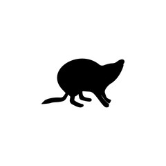 Beaver silhouette icon. Element of animals icon for mobile concept and web apps. Detailed Beaver silhouette icon can be used for web and mobile