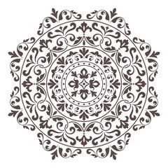Ornamental round lace pattern.