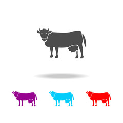 cow icons. Elements of fast food in multi colored icons. Premium quality graphic design icon. Simple icon for websites, web design, mobile app, info graphics