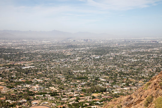 View from Camelback mountain in Scottsdale, Arizona