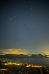 Stars over a lake