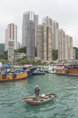 Aberdeen, Fishing village in Hong Kong city