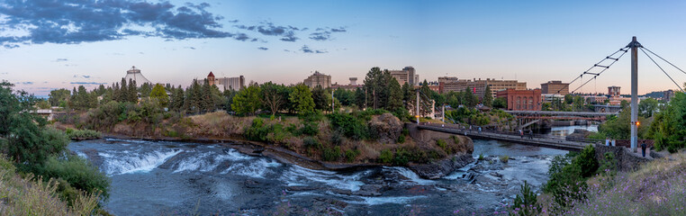 Spokane, WA Skyline Panorama Wall mural