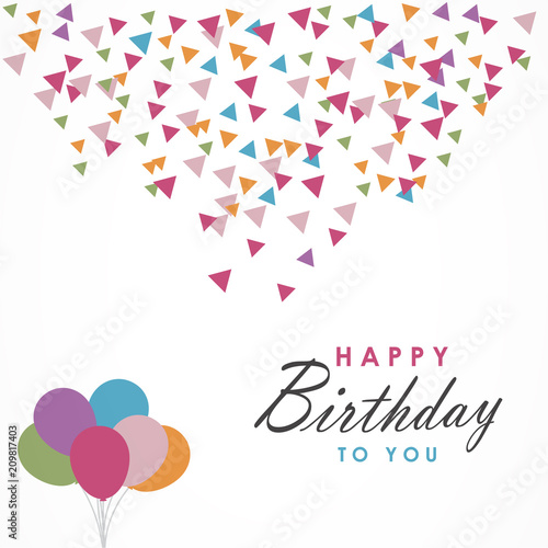 Happy Birthday Design For Greeting Cards And Poster Background