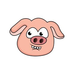 cartoon pigs are waiting for surprise