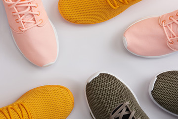 Pattern from colorful sport shoes