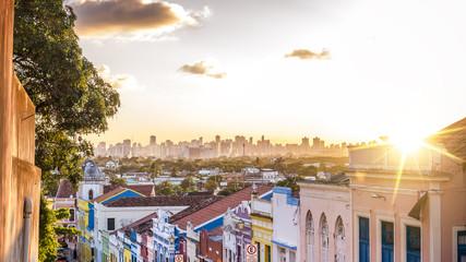 The colonial buildings of Olinda in Pernambuco, Brazil.
