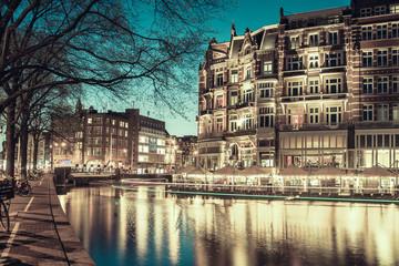 Vintage Amsterdam in Twilight
