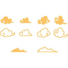 和風の雲セット