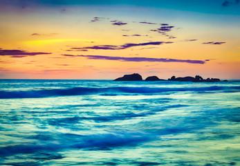 Sunset over the sea. Beautiful landscape