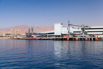 Aqaba port, new cargo terminal with crane