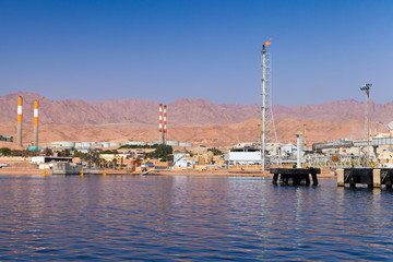 Aqaba port, oil terminal, Jordan