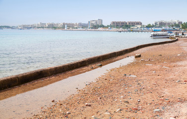 Aqaba beach at sunny day, Jordan
