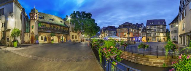 Colmar Place de I Ancienne Douane Elsass Panorama Frankreich