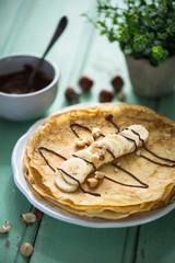 Crêpes ou Pancake Banane et Chocolat pour la Chandeleur