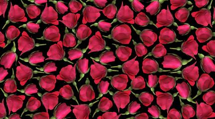 Flower buds, floral background
