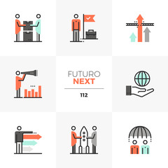 Business Cooperation Futuro Next Icons