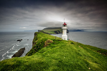 lighthouse in mykines faroe