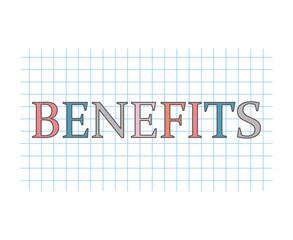 benefits concept- vector illustration