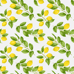 Lemon Brunches Seamless Pattern