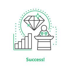 Successful career concept icon