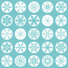 collection christmas snow flakes