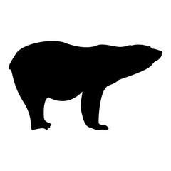 Polar bear icon black color illustration flat style simple image