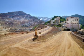 Opencast mining quarry in Austrian Alps