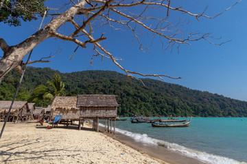 Morgan Village Located on Mu Ko Surin islands, Mu ko Surin National Park, Phang Nga Thailand