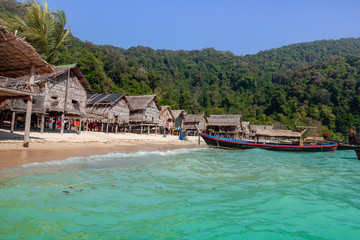 Morgan Village Located on Mu Ko Surin islands, Mu ko Surin National Park, Phang Nga Thailand