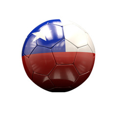 3d Soccer Ball with Chile Flag Illustration