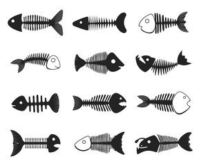 Fish skeleton set