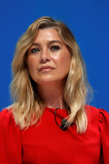 Ellen Pompeo attends a conference at the Cannes Lions International Festival of Creativity, in Cannes