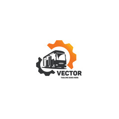 Vector bus logo.