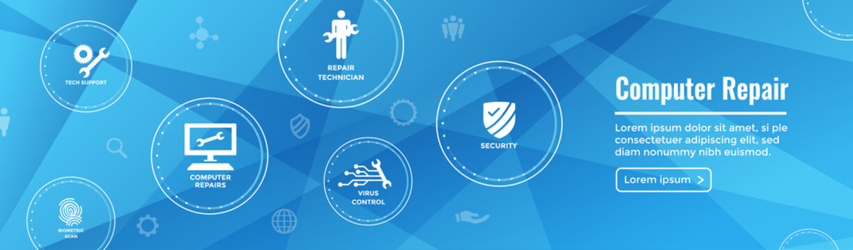 Big Data Security Maintenance Icon with Wrench and Gear Tools for Technician to Use when Scanning Systems - Internet / Information Technology Repairs