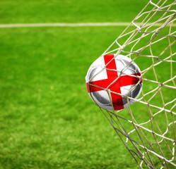 Fussball mit englischer Flagge