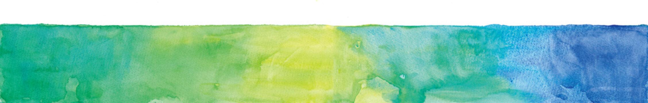 グリーンカラーベルトの水彩テクスチャ abstract texture