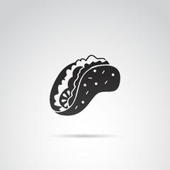 Tacos vector icon.