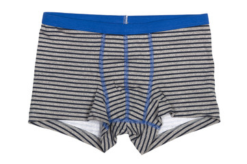 striped boxers for boys isolated on white