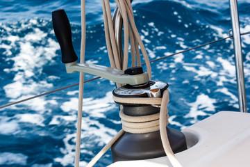 Segelboot Winsch