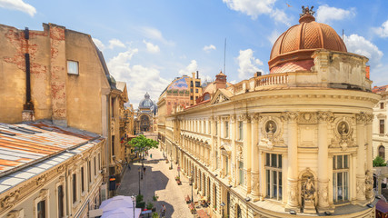 Bucharest Old Town Sunny Summer Day - Romania