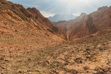 Mountain in Sinai desert Egypt
