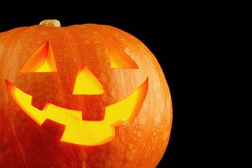 Illuminated cute halloween pumpkin