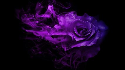 Fototapeta Smoke rose from